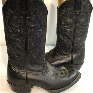 Other - Mens Ariat Heritage Black LEATHER Cowboy Boots 9
